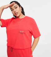 Thumbnail for your product : Nike Swoosh Plus oversized T-shirt in red