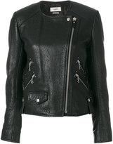Etoile Isabel Marant kankara textured biker jacket - women - Lamb Skin/Acetate/Cupro - 36