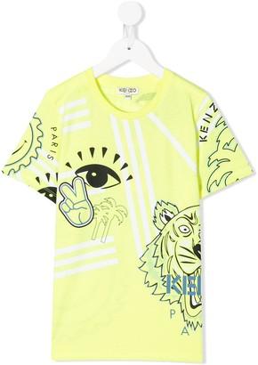 Kenzo Kids Tiger print T-shirt