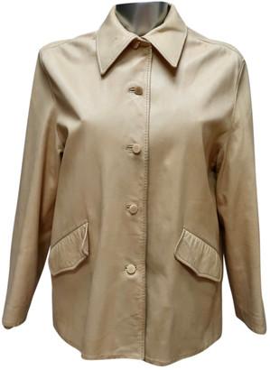 Hermes Ecru Leather Jackets