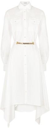 J.W.Anderson White Draped Cotton Shirt Dress