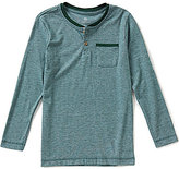 Class Club Big Boys 8-20 Fine Striped Henley
