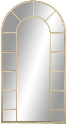 Uma Gold Contemporary Framed Arched Wall Mirror