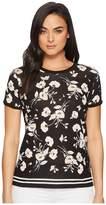 Lauren Ralph Lauren Floral Linen-Blend T-Shirt Women's T Shirt