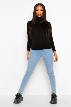 boohoo Maternity Lightweight Roll Neck Top