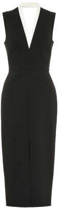 Victoria Beckham Tuxedo crepe midi dress