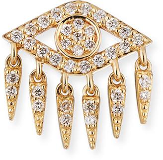 Sydney Evan 14k Diamond Evil Eye Fringe Earring (Single)