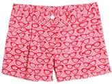 Sarah Jane Glasses Printed Cotton Drill Shorts