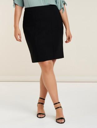 Forever New Erica Curve Ponte Pencil Skirt - Black - 16