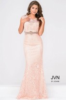Jovani Lace Cap Sleeve Fitted Prom Dress JVN48712