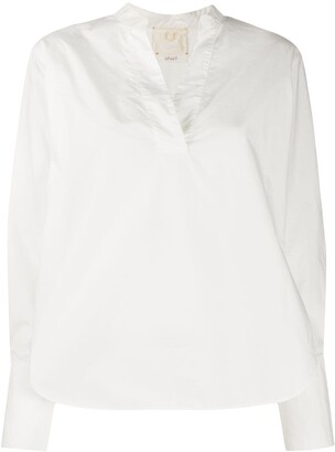 Forte Forte V-neck long-sleeved blouse