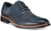 Bar III Monte Mixed Media Wing-Tip Oxfords, Only at Macy's