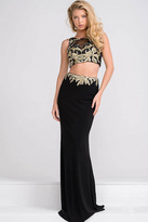 Jovani Sheer Neckline Two Piece Dress JVN33748