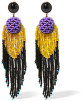 Etro Beaded Earrings - Purple