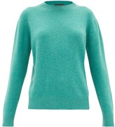 The Elder Statesman Simple Round-neck Cashmere Sweater - Womens - Green