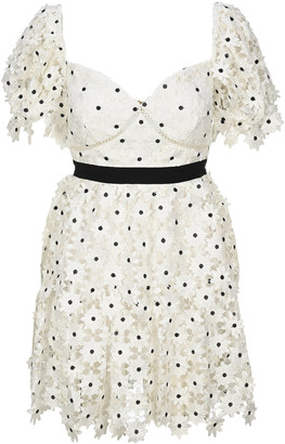 Self-Portrait Daisy Lace Mini Dress