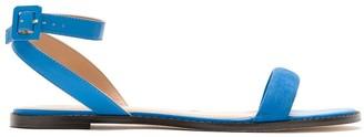 Egrey Leather Flat Sandals