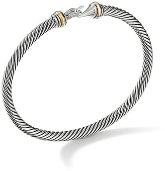 David Yurman Cable Buckle Bracelet with 18K Yellow Gold/4mm