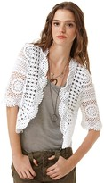 Quotation: 525 America Short Sleeve Crochet Cardigan