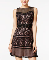 SHIFT Juniors' Lace A-Line Dress, Only at Macy's