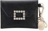 Roger Vivier TRES VIVIER LEATHER WALLET W/ KEY RING