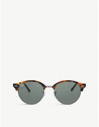 Ray-Ban Mens Black Rb4246 Clubround Sunglasses