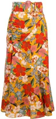 Nicholas Floral Print Skirt