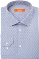 Tallia Men's Fitted Blue Dobby Check Dress Shirt