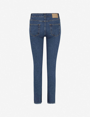 Claudie Pierlot Pitabise straight mid-rise stretch-denim jeans