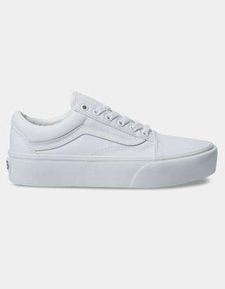 Vans Old Skool Platform True White Womens Shoes