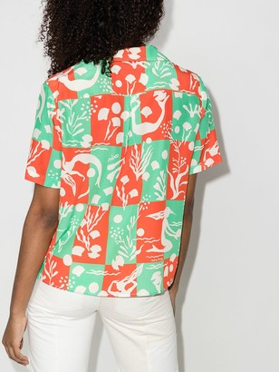 Rixo Rickie Sea Life print shirt