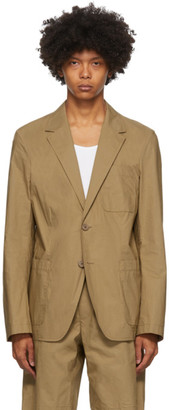 Helmut Lang Tan 2-Button Blazer