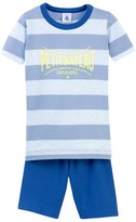 Petit Bateau Boys striped short pajamas