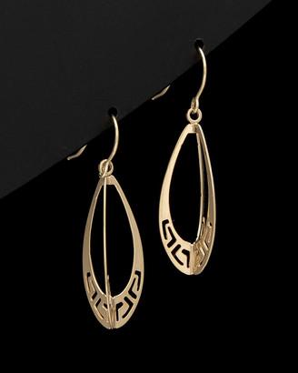 Italian Gold 14K Greek Key Drop Earrings