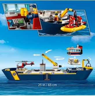 Lego City 60266 Ocean Exploration Ship Floating Deep Sea Boat Model