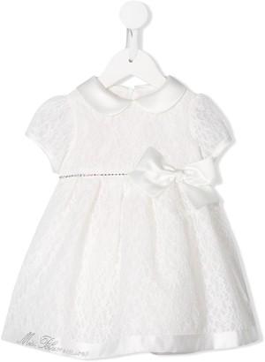 Miss Blumarine Bow Detail Lace Dress