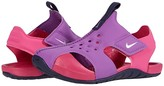 Nike Sunray Protect 2 (Infant/Toddler) (Purple Nebula/Metallic Silver/Watermelon) Girls Shoes