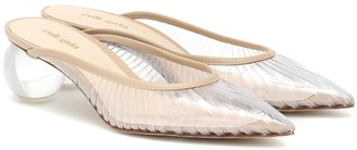 Cult Gaia Exclusive to Mytheresa Alia leather-trimmed PVC mules