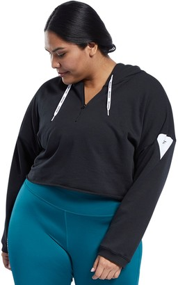 Reebok Plus Size Cropped 1/4 Zip Hoodie