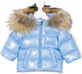 Moncler raccoon fur hooded jacket