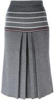 Thom Browne contrast stripe skirt