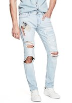 GUESS Men's Slim Tapered Destroyed Jeans