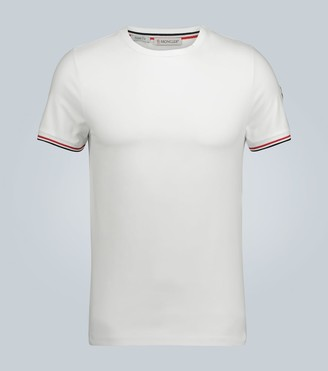 Moncler Stretch-cotton slim-fit T-shirt