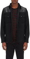 Rag & Bone Men's Key Leather Yoke Melton Shirt Jacket