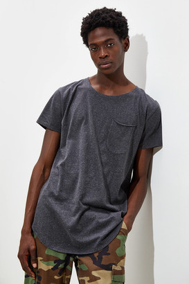 Urban Outfitters Nubby Scoop Neck Curved Hem Tee