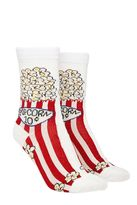 Forever 21 Popcorn Graphic Crew Socks