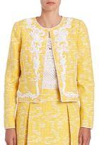 Oscar de la Renta Embroidered Jacket