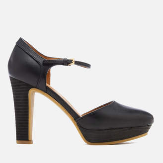 See by Chloe Women's Leather Platform Heeled Sandals - Nero