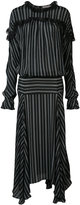 Preen by Thornton Bregazzi long striped panel dress - women - Viscose - XS
