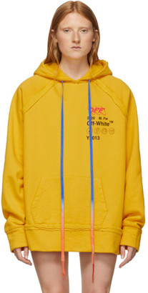 Off-White Off White Yellow Industrial Y013 Incompiuto Hoodie